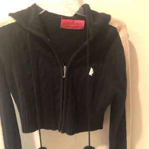 0a99c82c2caa Juicy Couture. Juicy Couture crop cashmere zip up sweater